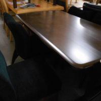 ダイニングテーブル5点セット ダーク色