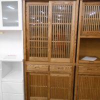 和風食器棚(うづくり仕上げ)