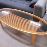 コーヒーテーブル 楕円形 2色